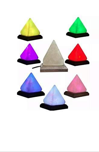 Himalaya Roze Zout LAMP Grote Piramide Driehoek Vorm Crystal Rock Natuurlijke Zout