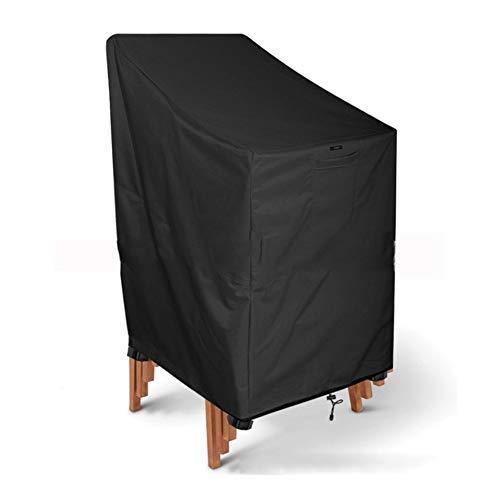 YMYP08 Terrastoel, Heavy-Duty 210D Oxford doek stof/UV-waterdichte opslag cover, verstelbaar, zwart
