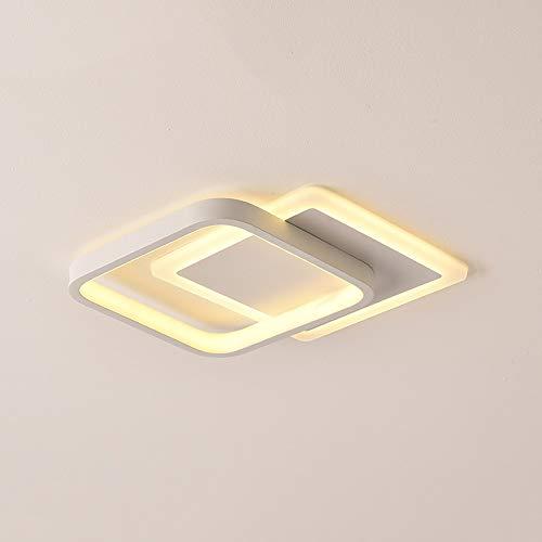 GLBS Panel Corredor Downlight 24W LED Blanco del Cuadrado del Pasillo Norte De Europa La Sala De Estar Dormitorio De Techo Iluminación del Arte del Hierro De Acrílico Inicio De Visita Ligera