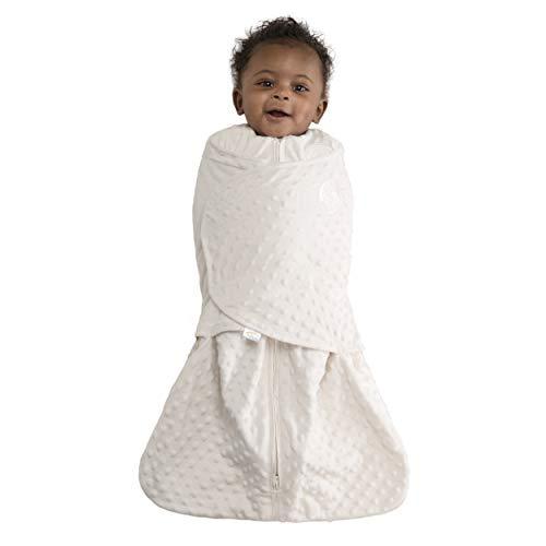 HALO Sleepsack Swaddle, Velboa, Cream Plush Dots, Small