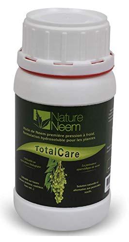 TotalCare - Insetticida biologico all'olio di Neem per orto - Formulazione idrosolubile certificata Ecocert - Diluito e spray per la disinfestazione - 250 ml
