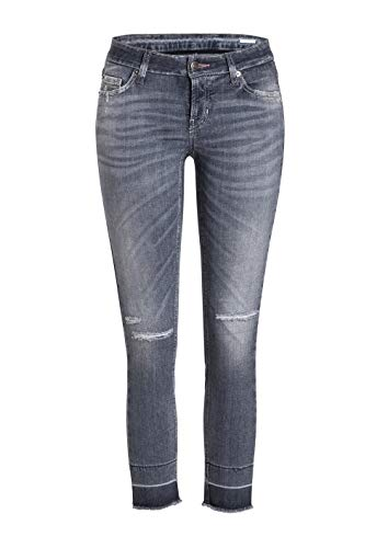 Cambio - LIU Short - Jeans - grau - Fransensaum - froginlove - 9221 (44)