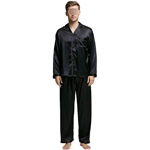 Heren Stain Zijde Pajama Set Zijde Slaapmode Mannen Sexy Zachte Gezellige Satijn Nachtjapon Mannen Zomer