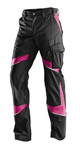 KÜBLER ACTIVIQ Damenhose 2550, Farbe: Schwarz/Pink, Größe: 42