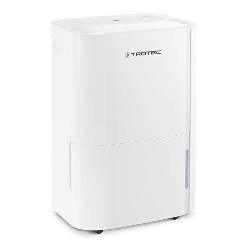 TROTEC Deshumidificador eléctrico TTK 66 E, 24L/24h, Pantalla LED, Depósito 3L, Portátil, para Habitaciones de 50m², Silencioso, 440 W, Auto-Apagado, Temporizador, Higrostato, Blanco
