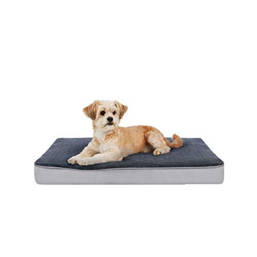 Focuspet Hundekissen mit Memory Foam, Hundematte Hundebett 61x41x7.5cm, S