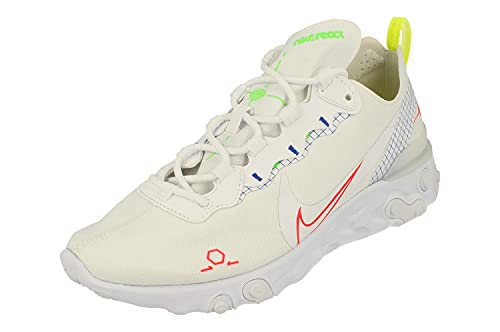 Nike React Element 55 Uomo Running Trainers CU3009 Sneakers Scarpe (UK 7 US 8 EU 41, White Laser Crimson Racer Blue 101)