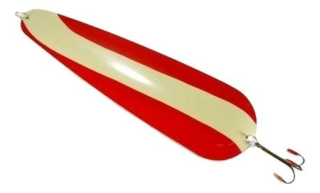 Carver's Olde Iron 23' Giant Lure Spoon Fishing Hanging Red & Antique White