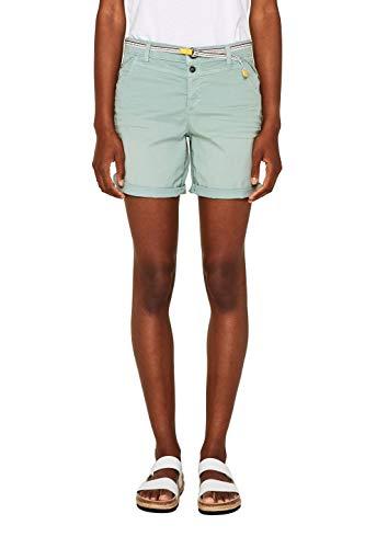 edc by ESPRIT Damen 049CC1C014 Shorts, Grün (Dusty Green 335), W(Herstellergröße: 38)
