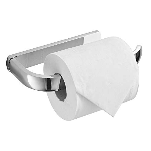 BESy Brass Toilet Tissue Paper Holder Polished Chrome Bathroom Accessories Fixtures Wall Mounted, Rust Protection