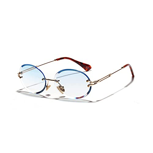 LUOXUEFEI Gafas De Sol Gafas De Sol Sin Montura Ovaladas Mujer Lente Hombre Gafas De Sol Señoras Sombras
