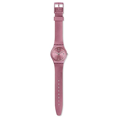 Swatch Damen Analog Quarz Uhr mit Silikon Armband GP404