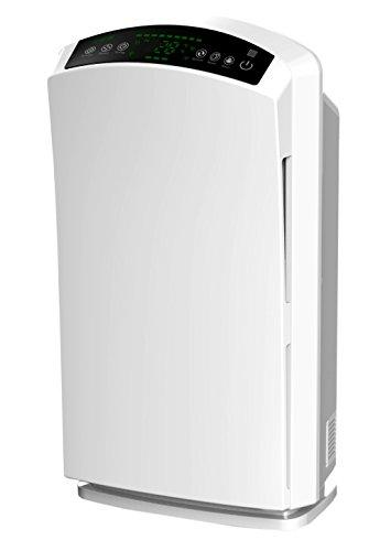 Baren B-H03 leiser HEPA Luftreiniger PM2.5 Feinstaubsensor Ionisator Aktivkohle Ozon UV-Licht für Allergiker Perlweiß