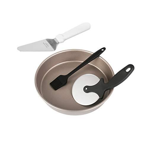 Assiette à pizza ronde en acier au carbone pour plateau à pizza ronde à plateau antiadhésif Vaisselle de cuisson au four pour la cuisine, 9 pouces (Taille : 9 inches)