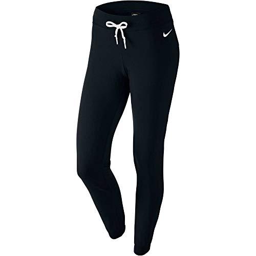 Nike Damen Hose Jersey Cuffed, schwarz/weiß, L, 617330