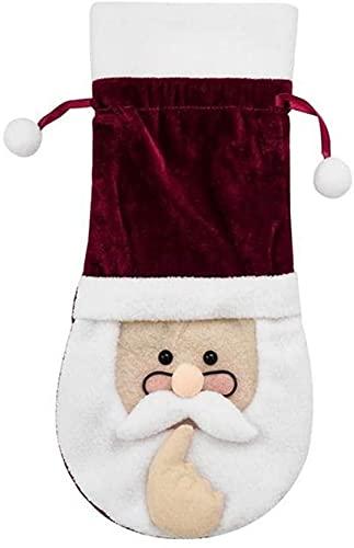 JYHZ Decoraciones navideñas, bolsas de botellas de vino de Santa Claus, decoraciones de mesa, juego de botellas de vino, decoraciones de Navidad, decoraciones de fiesta, regalos para niños