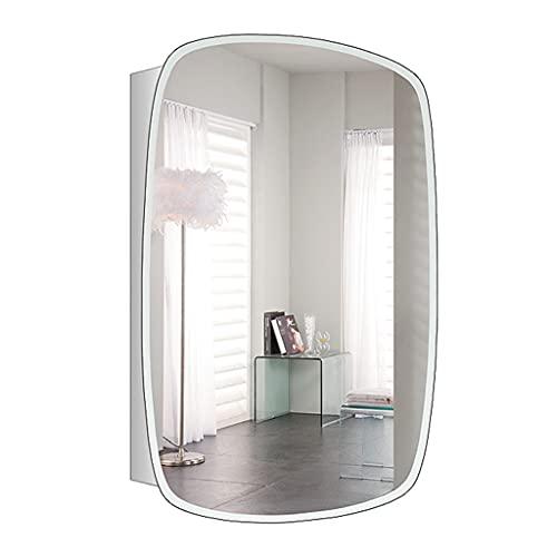 Badrum Rostfritt stål Spegelskåp, Väggmonterad Förvaring Skåp, Kök Stor kapacitet Väggskåp, Medicinskåp med spegel (Color : Silver, Size : 50 * 13 * 70cm)