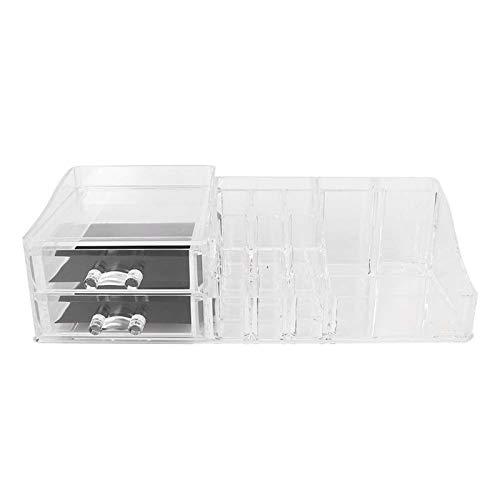 Caja de almacenamiento de cosméticos Estante de almacenamiento de herramientas de maquillaje resistente para uso doméstico para baño