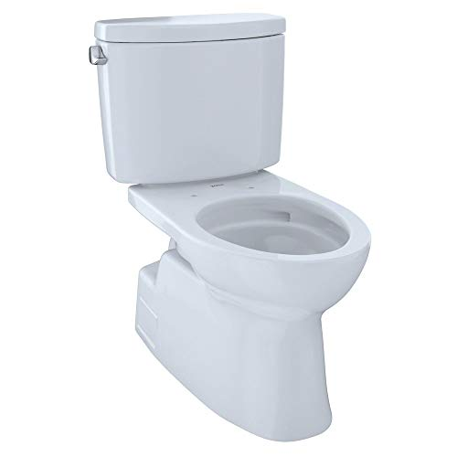 Toto CST474CEFGNo.01 Vespin II Two-Piece High-Efficiency Toilet, with SanaGloss, 1.28-GPF, Cotton, 12 Inch