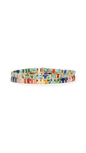 Shashi Women's Set of 2 Bracelets, Jewel Tone, Gold, One Size