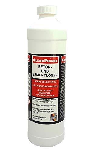 Betonlöser 1 Liter | Zementlöser Baumaschinenreiniger mit Korrosionsschutz | selbsttätige Wirkung | löst massivste Verkrustungen