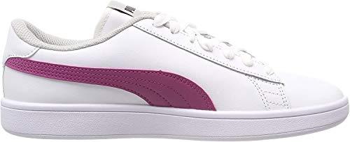 Puma Smash v2 L Jr, Zapatillas Unisex Niños, Blanco White-Magenta Haze-Fig-Gray Violet, 39 EU