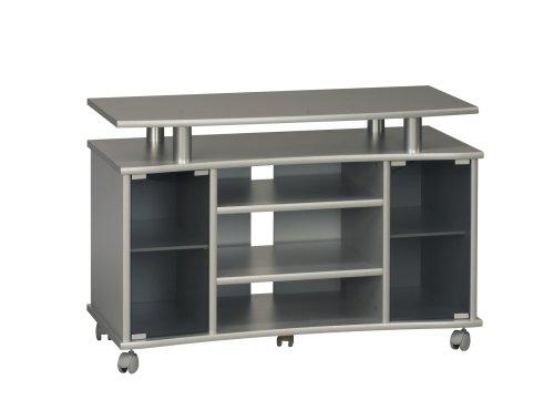 Maja 73624850 TV-Videowagen 99,7 x 67,6 x 45 cm Silber/Lack-Optik/Alu-Optik