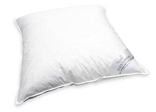 Klosterdorf Bettenmanufaktur Premium Wiegenkissen ''krümmel'' | 80x80 cm | 150 Gramm | Handarbeit aus Deutschland | Für einen gesunden Schlaf