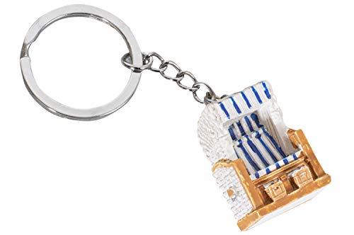 mare-me Schlüsselanhänger Strandkorb, blau weiß