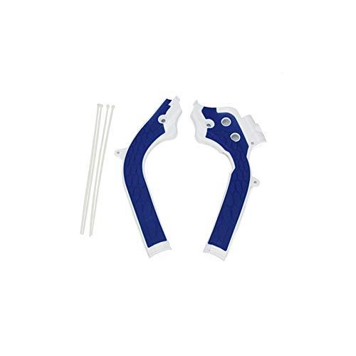 JunHua Protector de Marco de plástico para Motocicletas Protector para KTM SX SXF EXCX EXCV 125 250 300 350 450 FIT FOR HUSQVARNE TE FE FC TC TX Succes Bike (Color : Blue)