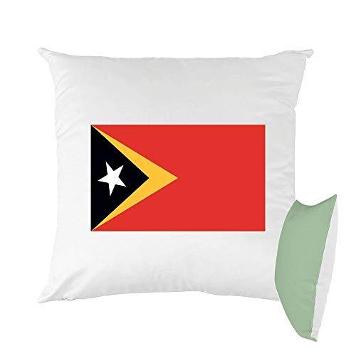 Mygoodprice Kissen, Bedruckt, 40 x 40 cm, Flagge Osttimor grün