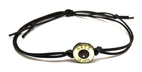 Patronenhülsen Bullet Armband mit einen Kristall von Swarovski Braun/Braun