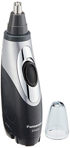 Panasonic ER430K Wet/Dry Nose & Ear Hair Trimmer with Vacuum Cleaning System (Battery Operated)
