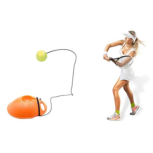 Tennis Trainer Rebound Ball Solo Tennis Practice Gear,Complete Tennis Training Exercise Ball Equipment Kit,Kids Youth Intensive Training Practice Exercise Base Self-Study Base (9.6''x8''x2.75'', Gelb)