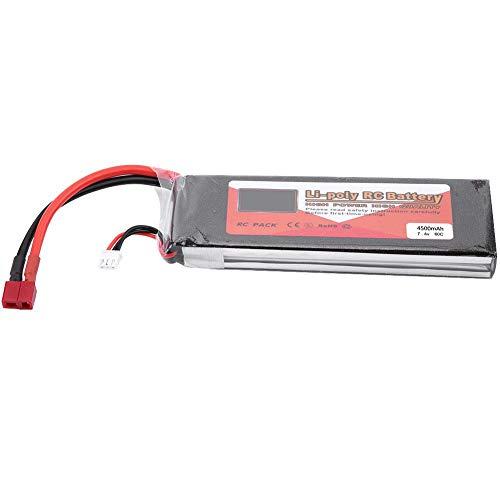 Dilwe Bater¨ªa LiPo RC, ZOP Power 2S 7.4V 2200mAh 5000mAh 3500mAh 5500mAh 4500mAh Bater¨ªa LiPo Recargable con T-Plug para RC Coche RC AVI¨®n o Barco(4500mAh 60C)
