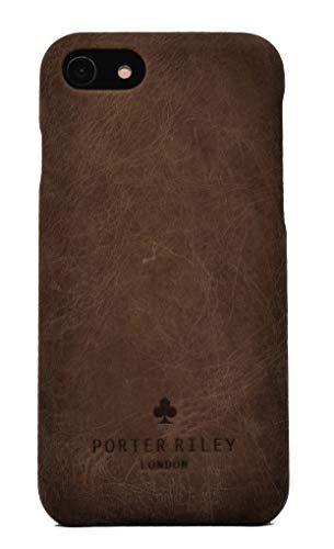 Porter Riley – Custodia per iPhone SE 2020 e iPhone 8 / iPhone 7. Custodia/Cover/Supporto/Ultrasottile in Vera Pelle Sottile di Prima qualità. (Marrone Cioccolato)