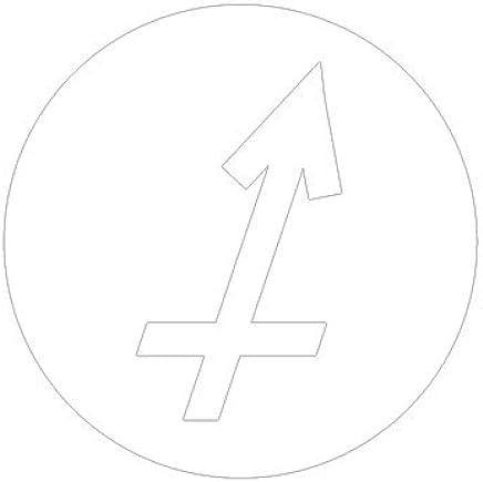 ピクトグラム いて座 ステッカーデカール (白色 )