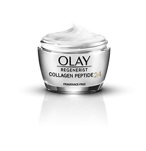 Olay Collagen Peptide24 Tagescreme 50 ml parfümfreie Feuchtigkeitscreme mit Vitamin B3 und Kollagen-Peptiden für eine Starke & Strahlende Haut ohne Parfum Gesichtspflege...