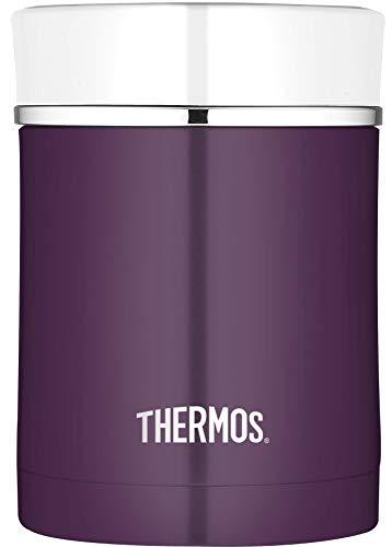 THERMOS 4005.249.047 Speisegefäß Premium, Edelstahl Plum 0,47 l, Spülmaschinenfest, 7 Stunden heiß, 9 Stunden kalt