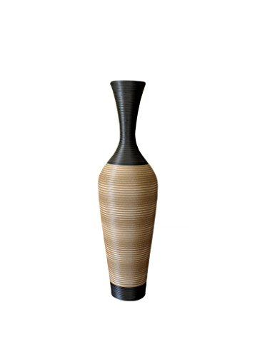 Exclusieve vaas van rotan acryl met binnenstructuur. Zeer origineel.