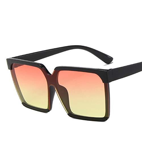 YOULIER Big Frame Square Gafas de sol de mujer de moda gafas de sol de mujer clásico negro sombra mujeres negro negro negro rojo amarillo