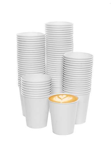 MGGI Trading Vaso Carton ECOGREEN 7 oz X 100 Tazas para Café, Capuchino, Agua y Jugos