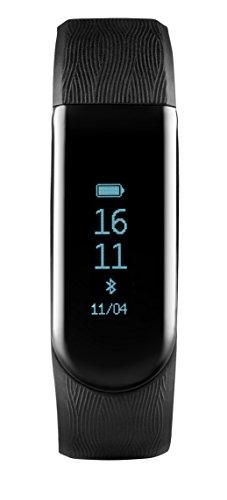 Medion S2000 Fitnessarmband (OLED Display, Herzfrequenzmesser, Flexibles Armband, wassergeschützt IP67, Schrittzähler, Schlafüberwachung) Schwarz