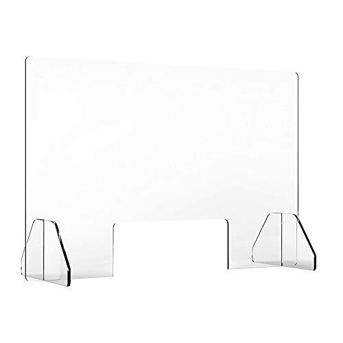 ETE ETMATE Tragbarer Nieschutz für Theke, Empfang, 80 * 60 cm, 32 * 24 Zoll, Acrylmaterial, transparente Farbe, stehende Lünette mit kleinem Fenster