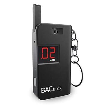 BACtrack Keychain Breathalyzer  Black  | Ultra-Portable Pocket Keyring Alcohol Tester for Personal Use