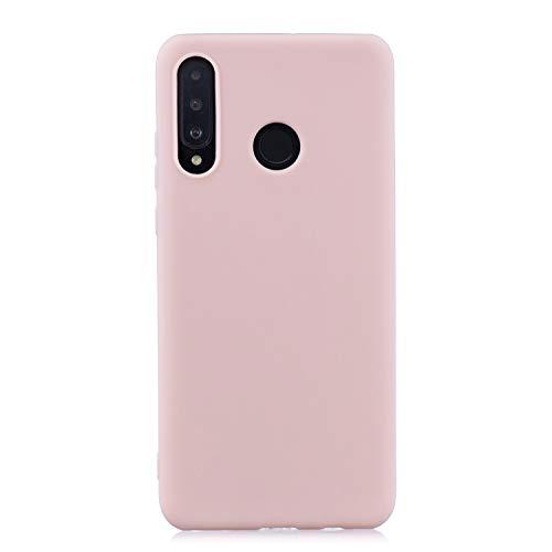 cuzz Custodia Huawei P30 Lite+{Film di Vetro temperato}Silicone TPU Cover Morbida Protettiva Custodia Ultra Sottile Leggero Cover-Rosa Chiaro