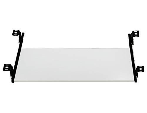 HYE-Table Bandeja deslizable para Teclado, cajón para Teclado de computadora con Plataforma y Deslizadores con cojinetes de Bolas, retráctil para deslizarse Debajo del Escritorio