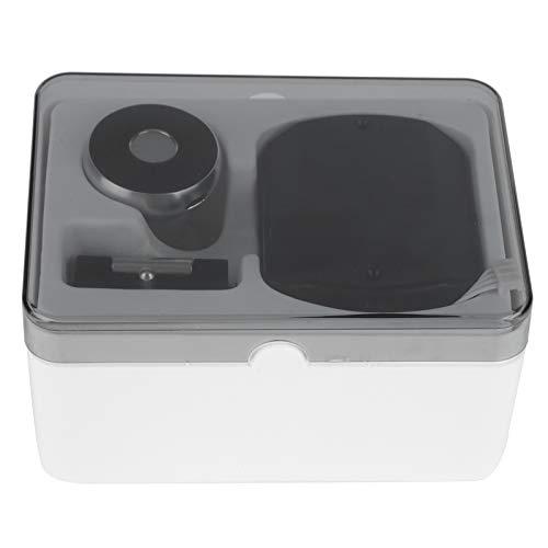 CHICIRIS Cerradura de Huella Digital, Cerradura de cajón Duradera de Alta Resistencia, herrajes para Muebles sin Llave Cerradura de cajón Inteligente(Aluminum Handle Black)