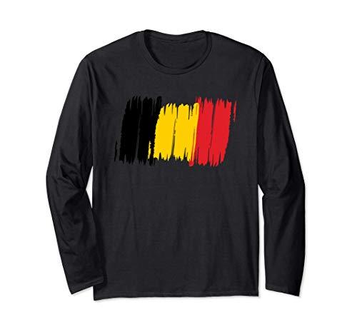 Belgien Flagge Belgisch Fahne Europa Geschenk Langarmshirt