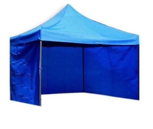 Bastionshop Marktzelt Expresszelt 2x3m Marktstand Faltzelt Messestand Pavillion Gazebo, Wasserdicht und mit UV-Schutz (Blau)